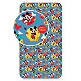 Mickey Mouse Cheese Single Fitted Bed Sheet