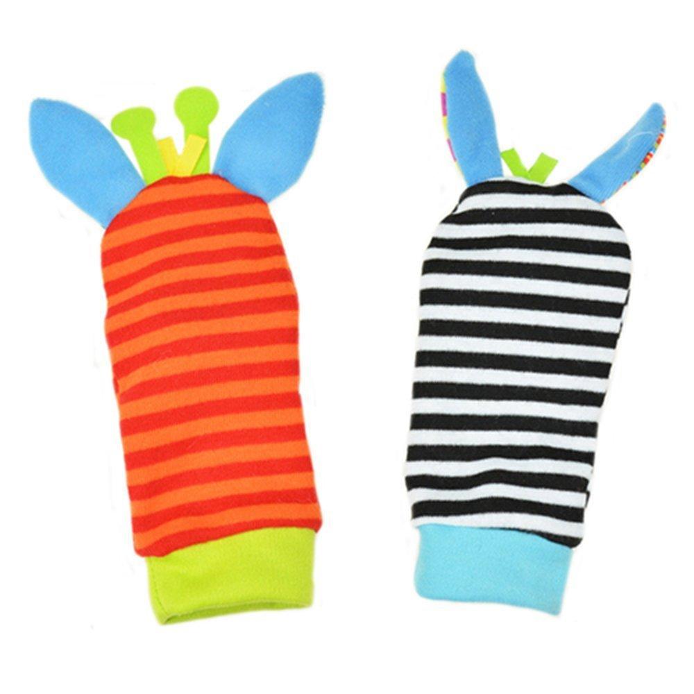 Unicoco mignon Infant enfants Pied de b/éb/é Chaussettes Hochets Finders Gant Jouets Developmenta