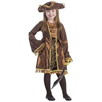 Dress Up America Pirate Costume Girl (2 Años): Amazon.es: Juguetes ...