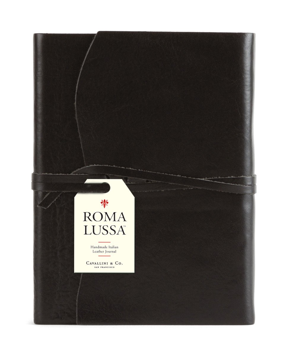 Roma Lussa Leather Journal Black (Inglese) Rilegato in Pelle – gen 2010 Cavallini & Co Cavallini & Co. 1574899864 JXROM/BLK