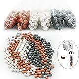 6 Pacchetti di Negative Ion Mineral Balls, Purifica acqua di Doccia - Rimuove cloro, Cloramina e Flu