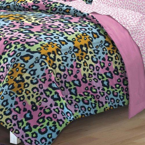 My Room Neon Leopard Ultra Soft Microfiber Girls Comforter