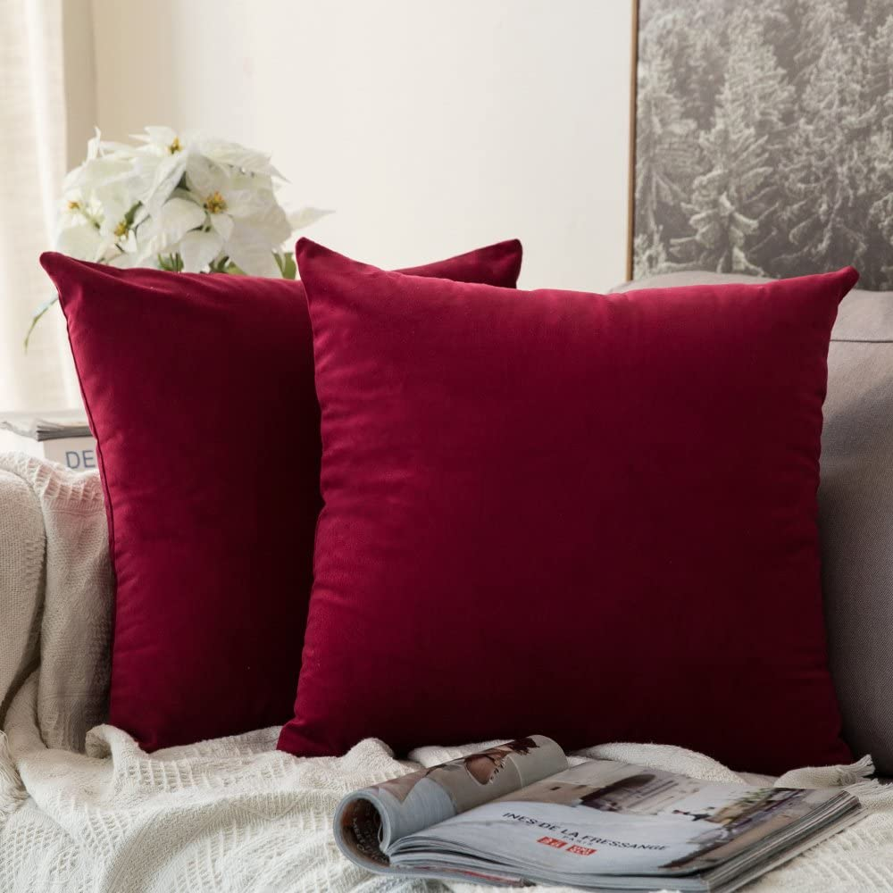 MIULEE 2pack 24 x 24Inch 60 x 60cm Velvet Pillow Covers$19.5 Coupon