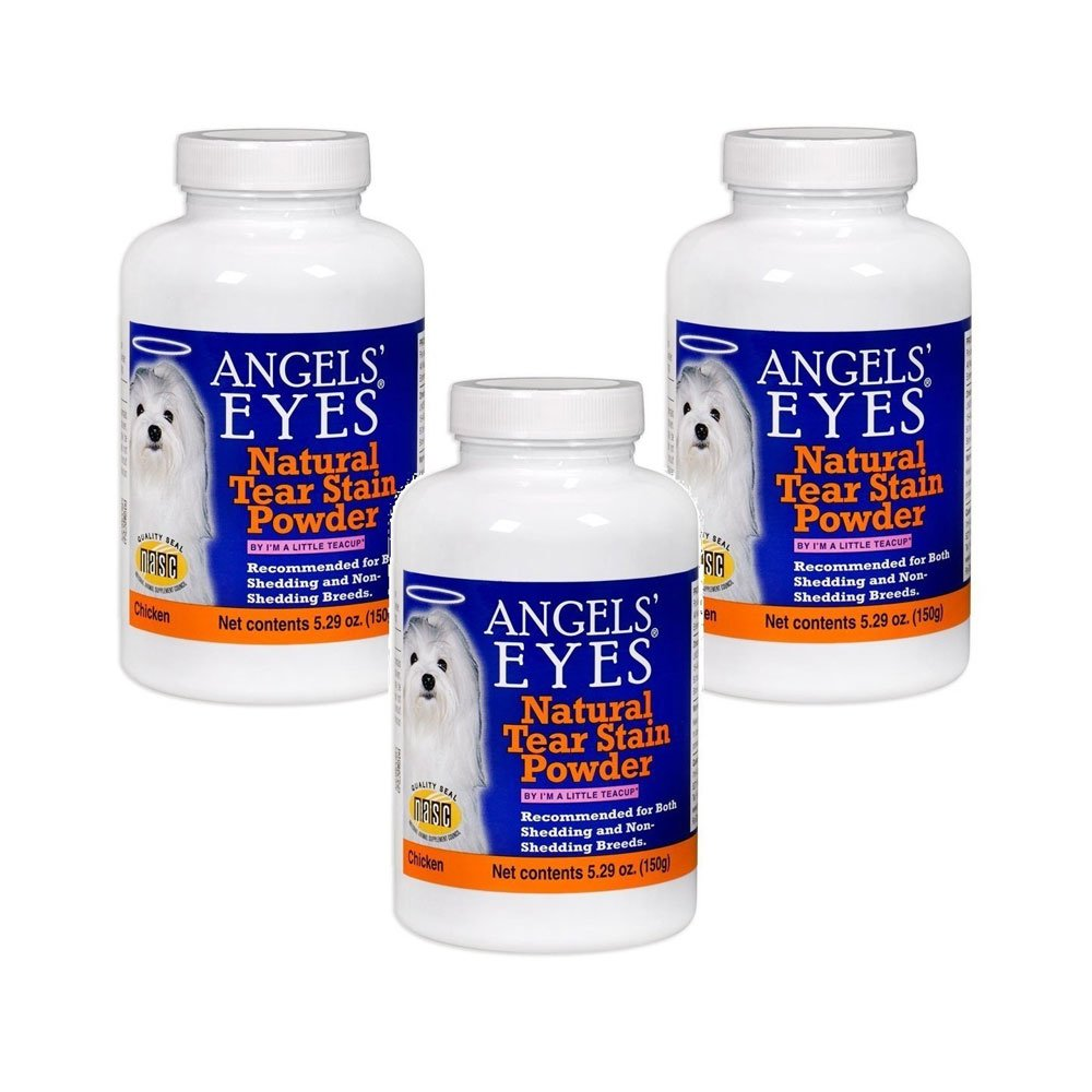 ANGELS' EYES Natural Chicken Tear Stain Eliminator Remover (3 Pack), 150g by ANGELS' EYES