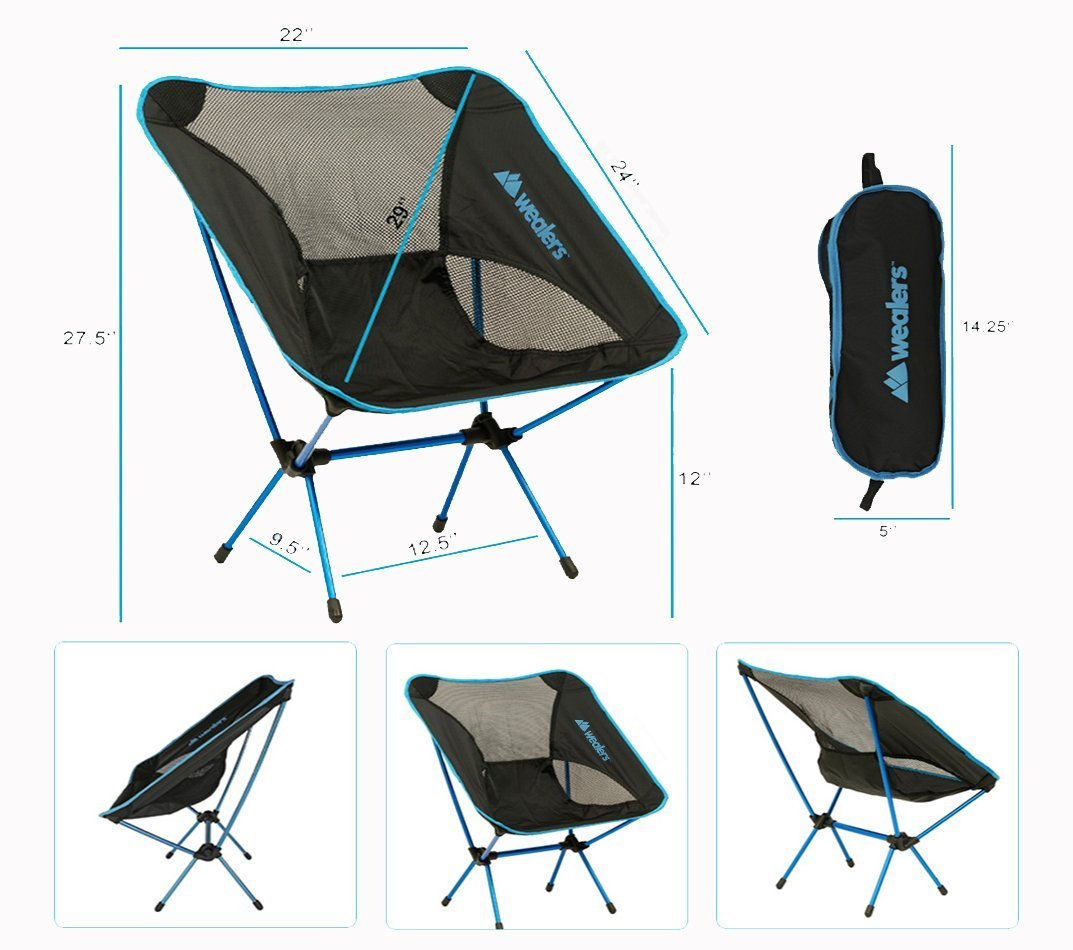 Camping Foldable Chairs with Bag for Adults Use as a Love Seat|Lawn Chair|for Sports Portable Durable and Fishing RV Camping Wealers and made of Ultra Lightweight Aluminum Alloy Collapsible Dark Blue