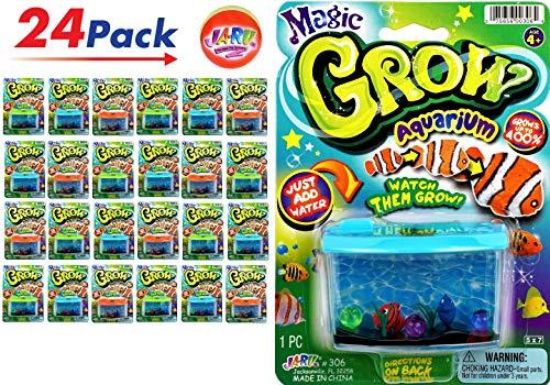 JA-RU Magic Grow Fish Aquarium (Pack of 24) Grow in Water Magic Toy Plus 1 Bouncy Ball Bundle Sea Creatures | Item #306-24p
