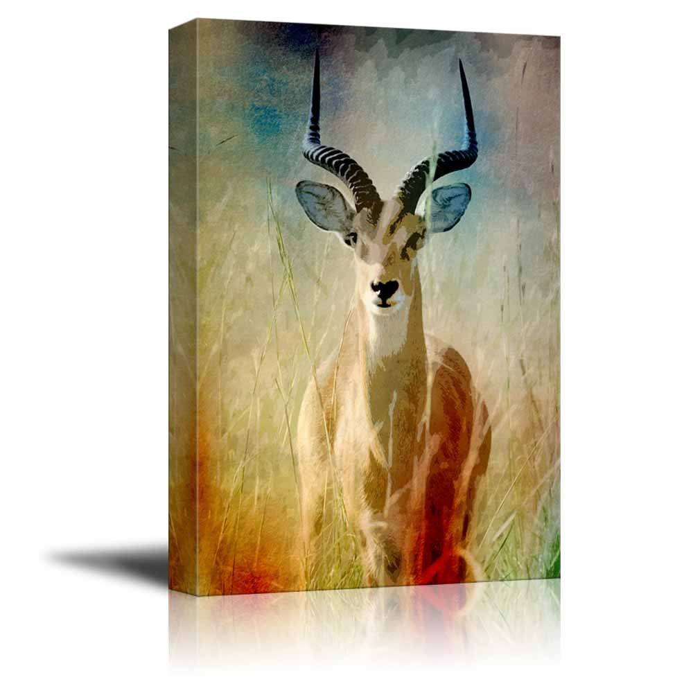 Animal Theme An Antelope on the Vintage Abstract Background Gallery ...