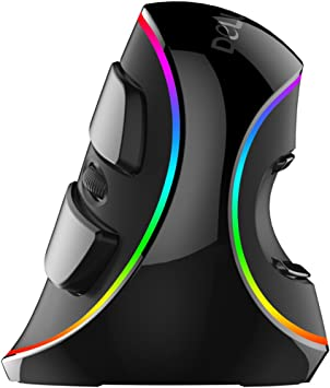 Wired Vertical Mouse Ergonomics Vertical Gaming Wired Mouse 6 Buttons 4000 DPI Optical RGB Right Hand Mice for PC Laptop