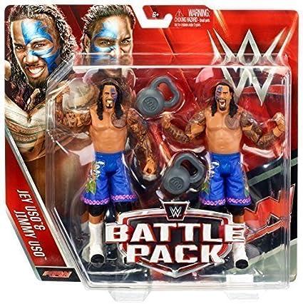 WWE JIMMY JEY EU HERMANOS BATTLE PACK NUEVO WWF SERIE 37 FIGURA DE LUCHA MATTEL: Amazon.es: Juguetes y juegos