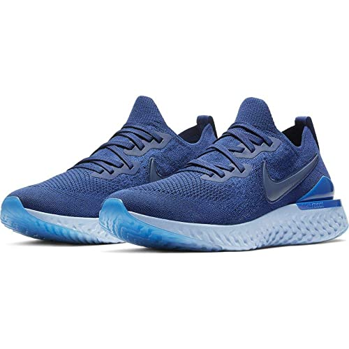 Nike Herren Epic React Flyknit 2 Laufschuhe Blau