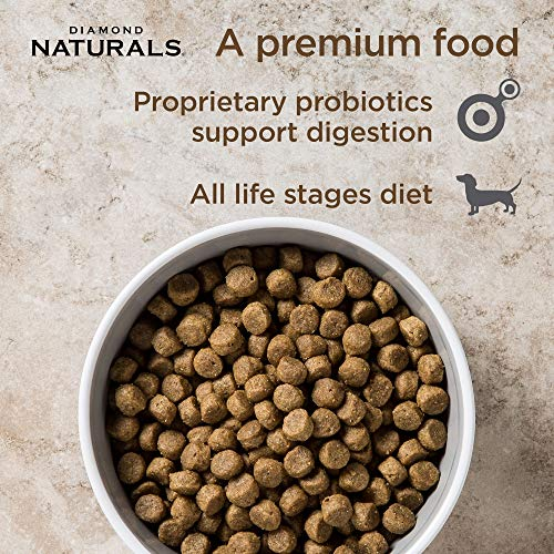 Diamond Naturals All Life Stages Real Meat Recipe Dry Dog Food With Premium Ingredients And Real Cage Free Chicken 40Lb
