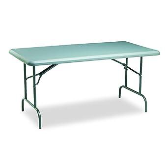 Charmant Iceberg ICE65217 IndestrucTable TOO 1200 Series Steel Legs Plastic Folding  Table, 2000 Lbs Capacity,