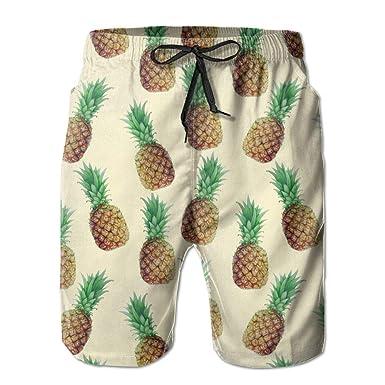 778d118065 Hai Ni Quick Dry Men's Beach Board Shorts Pineapples Pattern Surfing ...