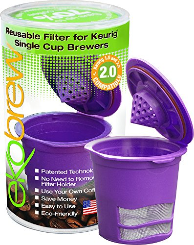 Ekobrew Cup, Refillable Cup for Keurig K-Cup Brewers, 3-Count
