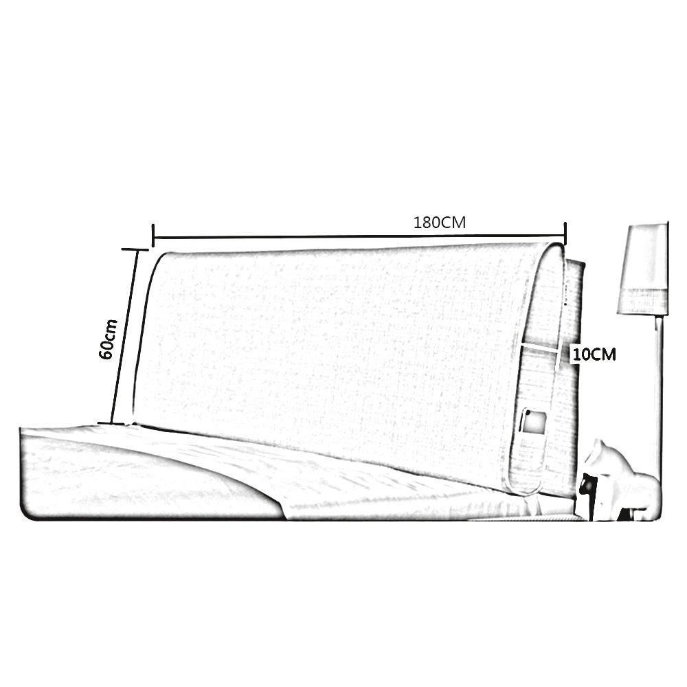 Colore : A, Dimensioni : 120 * 60CM YANFEI Comodino Soft Pack Cuscini per Letto Doppio Schienale Copri Cuscino Facile da Pulire