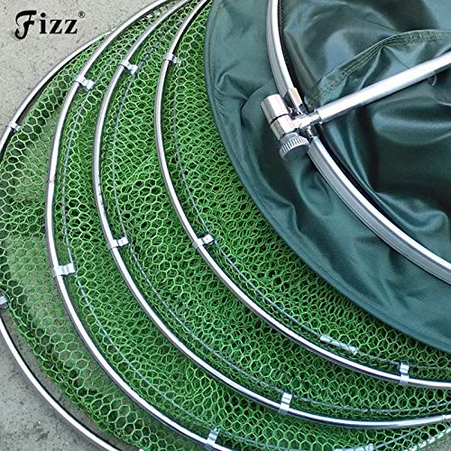 Double Stainless Steel Rings 5 Layers Collapsible Fish Care Net Folding Shrimp Minnow Fishing Bait Trap Dip Net Cage 50kg Load   45cm x 250cm