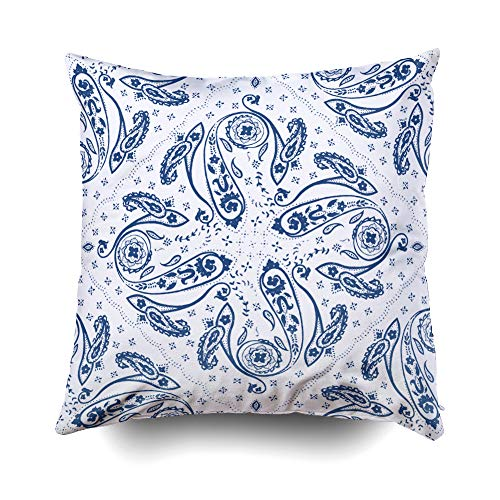 Musesh Halloween Ornamental Paisley Pattern Background Wallpaper Cushions Case Throw Pillow Cover for Sofa Home Decorative Pillowslip Gift Ideas Household Pillowcase Zippered Pillow Covers 16X16Inch