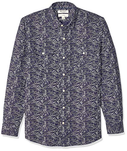 Goodthreads Men's Slim-fit Long-sleeve Linen and Cotton Blend Shirt Long Sleeve Button Down Shirt