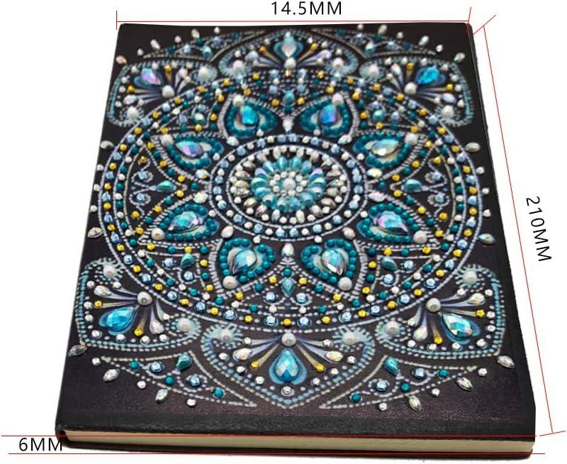 diario segreto per bambini diario per adulti regalo creativo decorazione mandala diari segreti per scrivere appunti Quaderni A5 pittura diamante 5d quaderno foderato 60 fogli 120 pagine