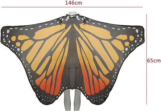 Ruick Chiffon monarcas Mariposa alas Chal Hada Mujer NINFA ...