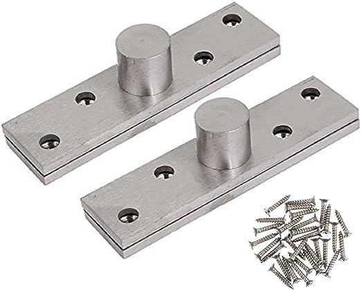 2pcs 100 x 16 x 11mm Stainless Steel 360 Degree Rotating Door Pivot Hinge.