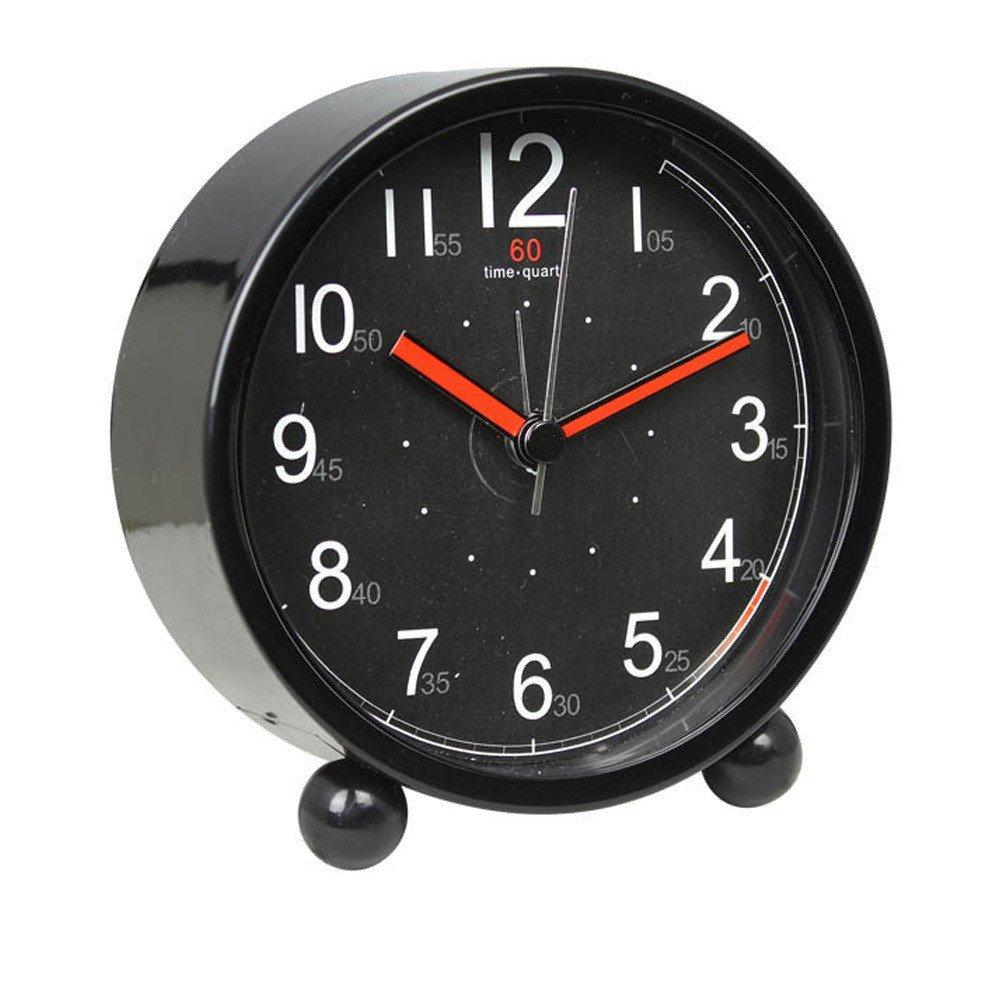 Harryup Children Alarm Clock - Analog Battery Operated Animal Themed (Black)
