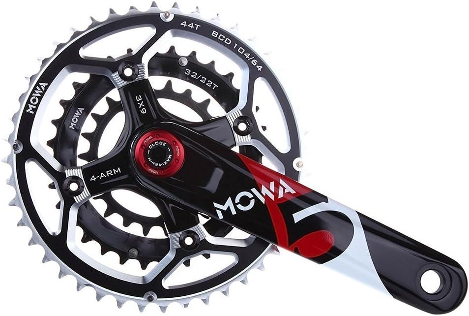 MOWA Five Mountain Bicycle Bike MTB Cycling Crankset 44//32//22t 175mm Black