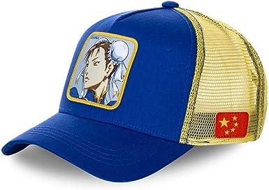 Capslab Gorras Street Fighter Chunli Blue/Yellow Trucker: Amazon ...