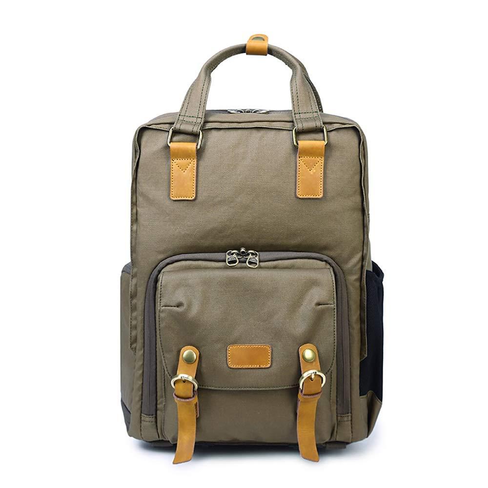 Color : Army Green Fklee Outdoor Mens and Womens Waterproof Shoulder Camera Bag SLR Digital Camera Bag Shoulder Bag Backpack Unisex Casual Rucksack Satchel Bookbag