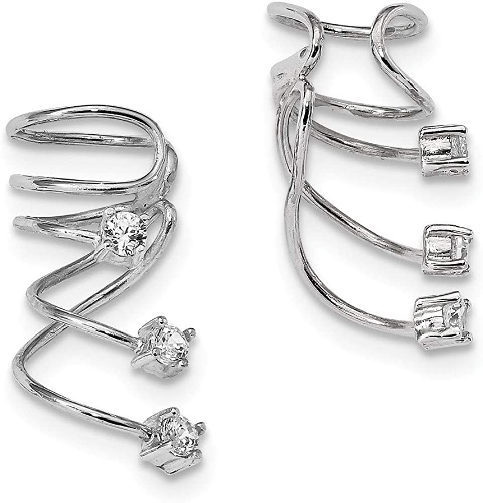 925 Sterling Silver Rhodium plated Zirconia CZ Sale SALE% Max 42% OFF OFF Cubic Simulated D