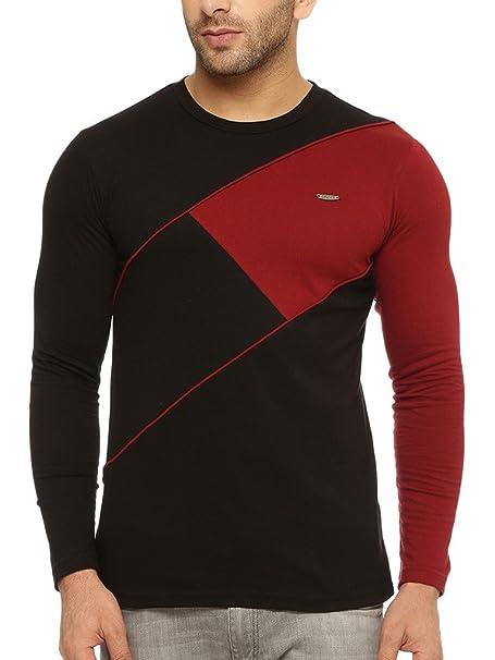 GRITSTONES Men's Round Neck Full Sleeves T-Shirt Men's T-Shirts at amazon