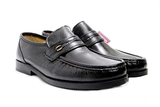 Luca Mancini Men's Wide Fitting Soft Leather Slip-On Shoes LM 1:  Amazon.co.uk: Shoes & Bags