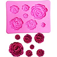 EJY Rose Flower Silicone Clay Soap Mold Mould Fondant Sugarcraft Cake Decorating