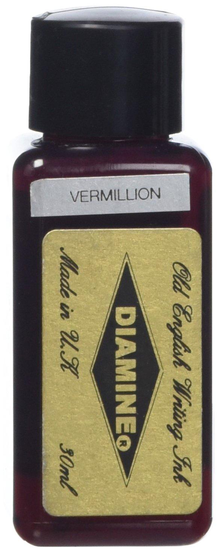 Diamine 30ml Vermillion fountain pen ink bottle 0700987829426