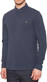 Farah Vintage Herren langarm Polo Shirt