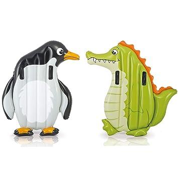 WYJHNL Bebé Piscina Flotador Inflable Cocodrilo Pingüino Natación ...