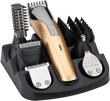 All In One eléctrica Cortapelos Grooming Kit, 11 en 1 recargables pelo afeitadora nariz de oído Barba Bigote recortador Clippers Traje Cortapelos para peluquería: Amazon.es: Salud y cuidado personal