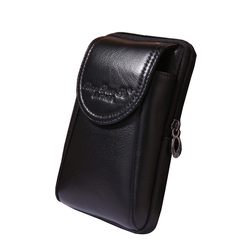 uomini in vera pelle vintage cassa del telefono cellulare Custodia pelle cinturino in pelle borsa borsellino marsupio