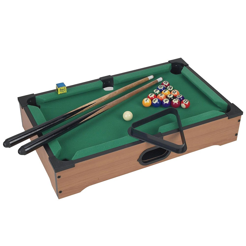 Mini Table Top Pool Table with Cues, Triangle and Chalk 1 by Trademark