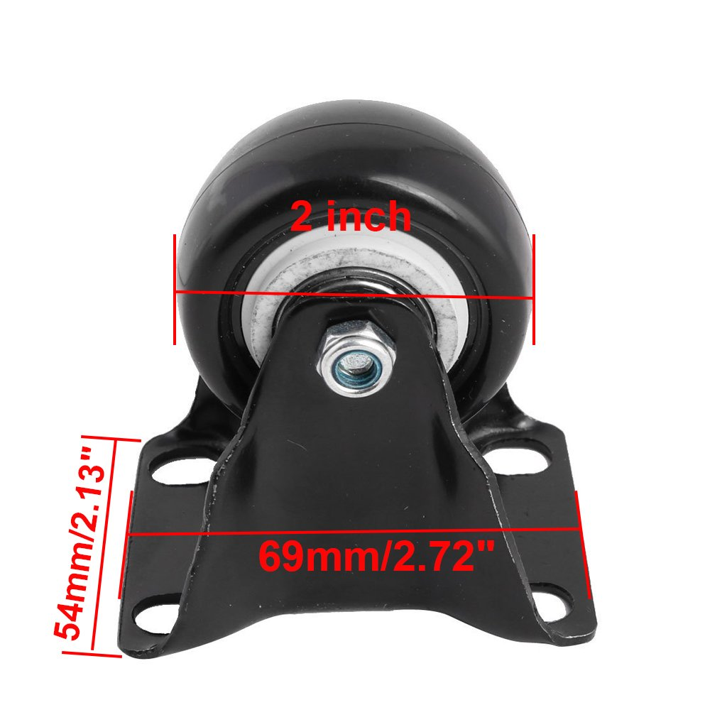 2 inch ZXHAO Heavy Duty Rigid Fixed Top Plate Caster wheels 4pcs Foshan Nanhai District Guang-FO Hardware City Exhibition Center 2 building