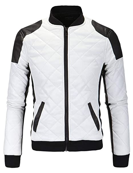 Emmala Chaqueta Moto Cuero Respirable Casual Formal La ...