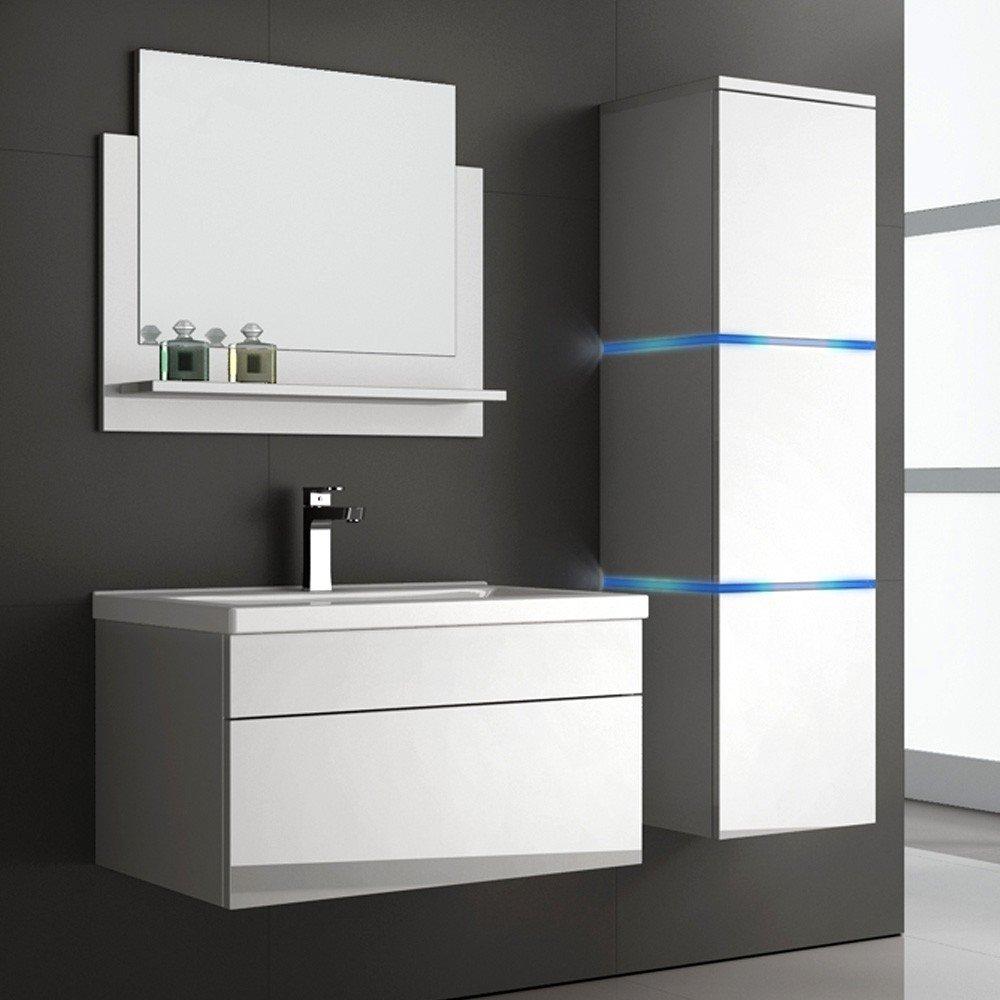 Moderne badmöbel  Home Deluxe | Badmöbel-Set | Wangerooge | weiß | inkl. Waschbecken ...