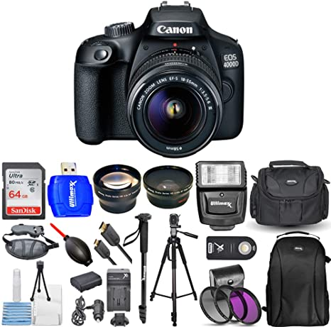 Canon EOS 4000D / Rebel T100 cámara réflex Digital con 18-55 mm f ...