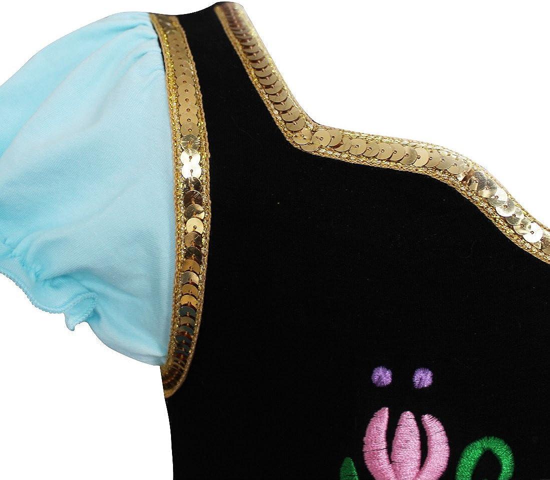 iiniim D/éguisement Reine Princesse Cosplay Robe de Danse Bal Tutu Enfant Fille B/éb/é Tulle Brod/é L/éotard Danse Ballet Justaucorps Gym Gymnastique Patinage