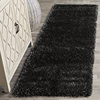 Safavieh Charlotte Shag Collection SGC720C Charcoal Runner (23 x 8)