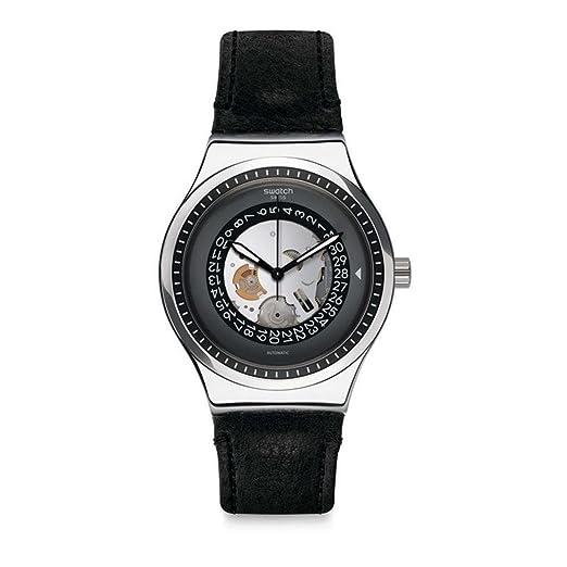 Swatch Reloj Analogico para Hombre de Automático con Correa en Cuero YIS414: Amazon.es: Relojes
