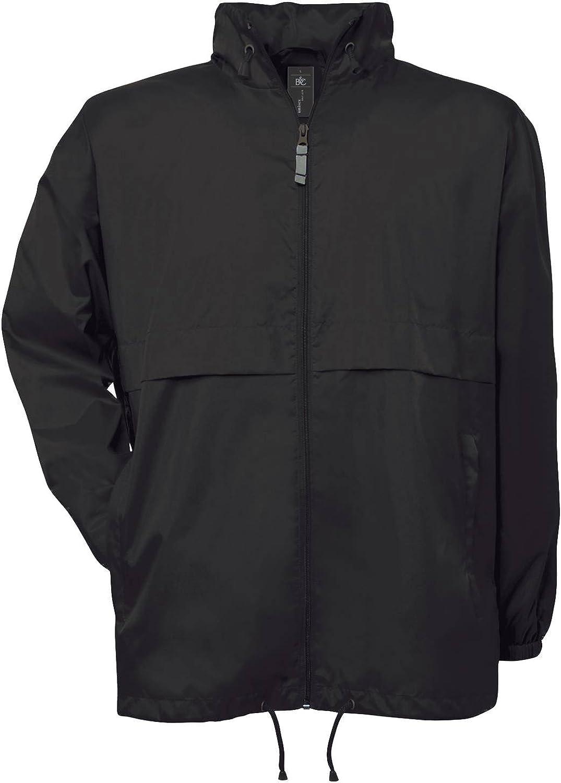 Waterproof B/&C 12 COLOURS K-way MAN windbreaker nylon HOOD even WOMAN #