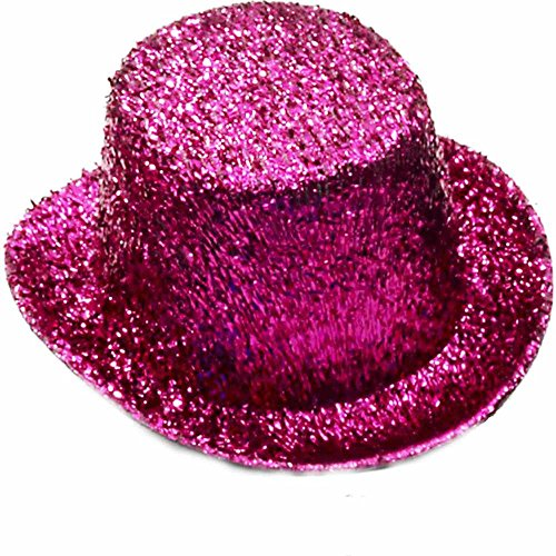 Forum Novelties Women's Mini Glitter Top Hat-Hot Pink Party Supplies, Standard]()