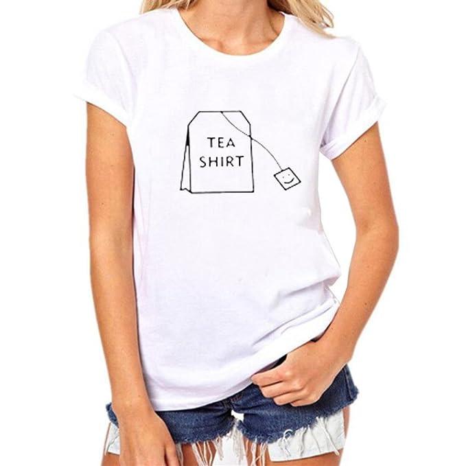 Camisetas Mujer Manga Corta Algodon AIMEE7 Blusas Tirantes Mujer Verano Camisetas Mujer Manga Corta Blancas Camisetas