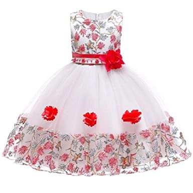 The London Store Baby Girls Spring Flower Princess Party Dresses